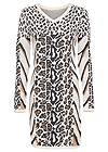 Ghost with background front view Animal Print Sweater Dress