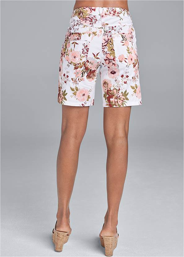 Back View Rolled Cuff Shorts