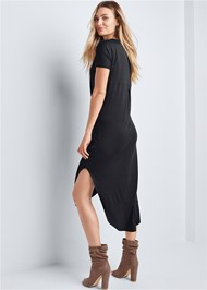 Back View Casual T-Shirt Maxi Dress