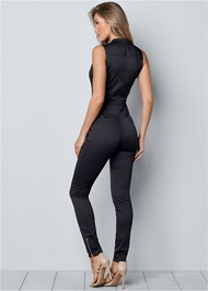 Back View Zip Front Jumpsuit