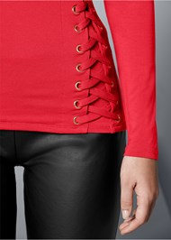 Alternate view Side Lace Up Top