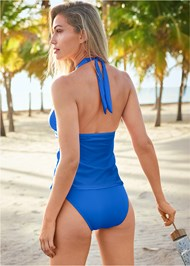 Full back view Full Coverage Mid Rise Hipster Bikini Bottom