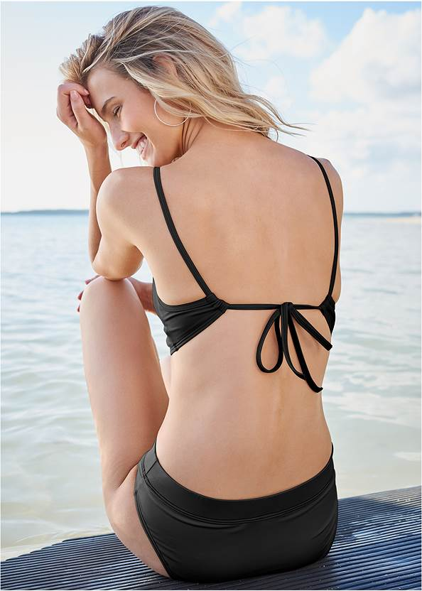 Back View By The Sea Triangle Top