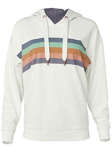 Plus Size Striped Detail Sweatshirt