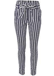 Alternate View Striped Paperbag Pants