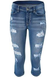 Alternate View Ripped Capri Jeans