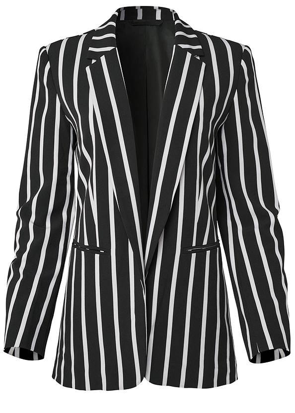 Alternate View Striped Blazer