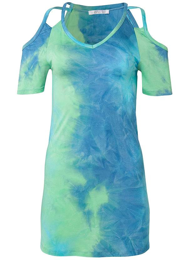 Ghost with background  view Cold Shoulder Dress