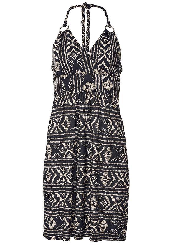 Alternate View Printed Halter Tie Dress