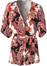 Alternate View Casual Paisley Print Romper