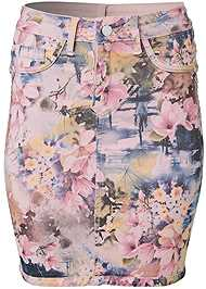 Ghost with background  view Reversible Skirt