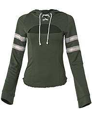 Alternate View Rhinestone Trim Sweatshirt