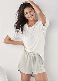 Cropped front view Sleep Shorts