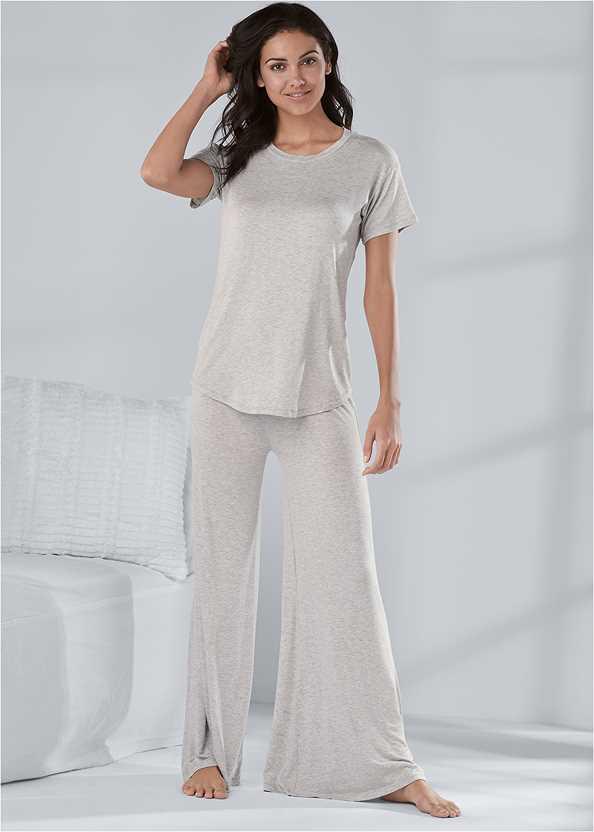Palazzo Sleep Pant,Sleep T-Shirt