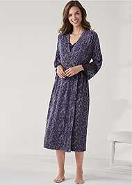 Detail front view Long Sleep Robe
