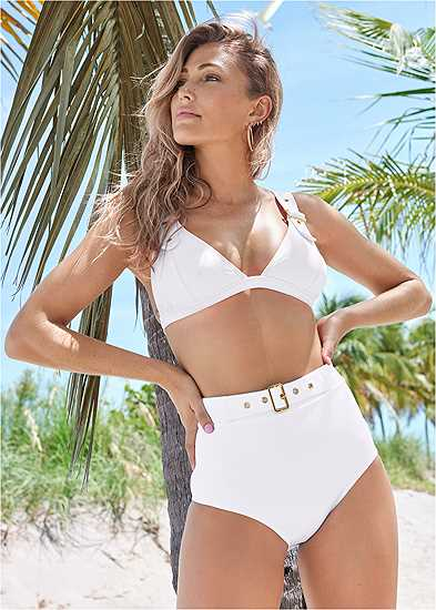 Jet Set Belted Triangle Top