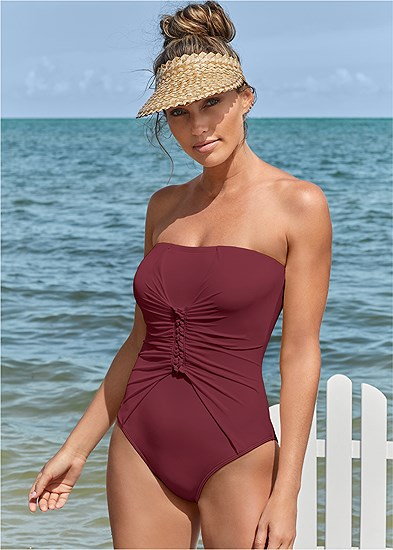 slimming bandeau one-piece