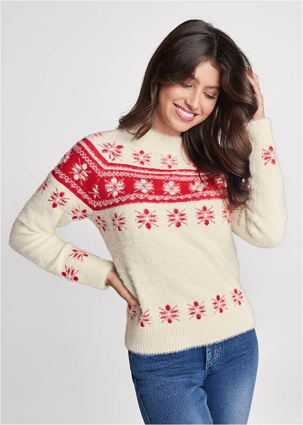 Snowflake Eyelash Sweater