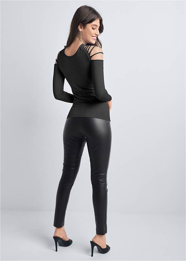 Full back view Strappy Seamless Top
