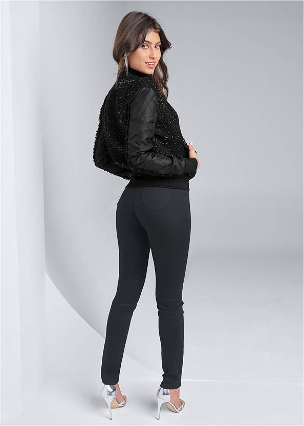 Full back view Lurex Tweed Jacket