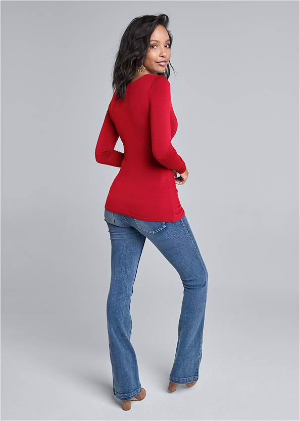Back View Knot Twist Front Top