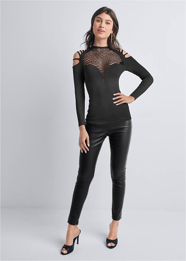 Full front view Strappy Seamless Top