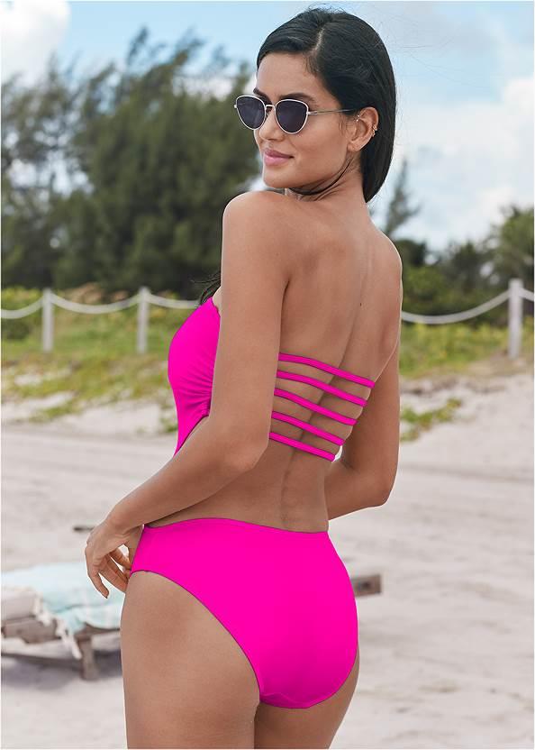 Capri Strap Back Monokini,Ruffle Trim Wrap Skirt,Strapless Jumpsuit,Striped Straw Tote