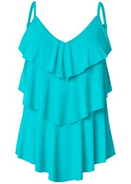 Alternate View Tiered Ruffle Tankini Top