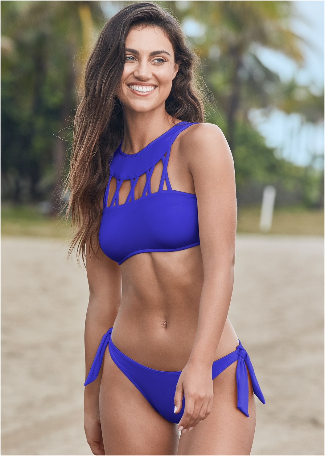 Sustainable Tie Side Bottom,Sustainable Crisscross Top,Sustainable Wrap Tankini Top