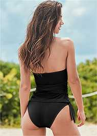 Back View Sustainable Wrap Tankini Top