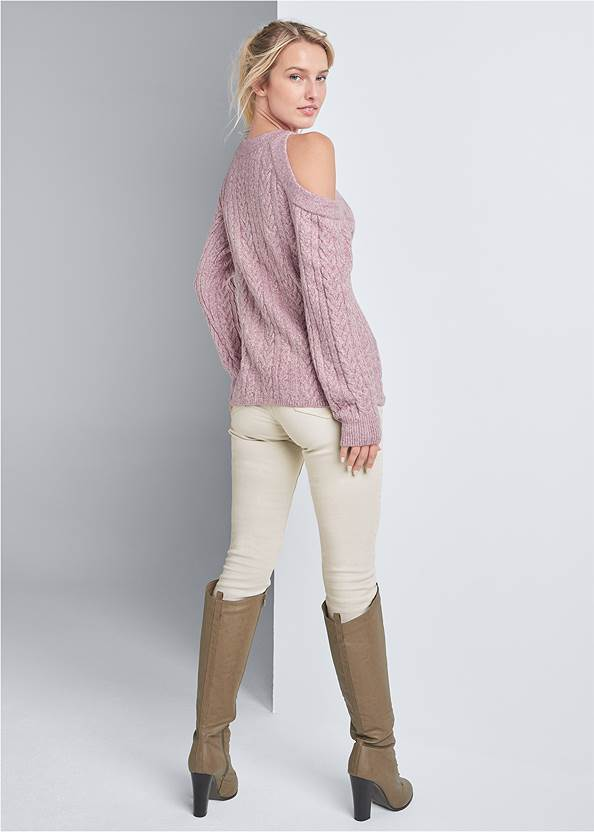Full back view Side Button Sweater