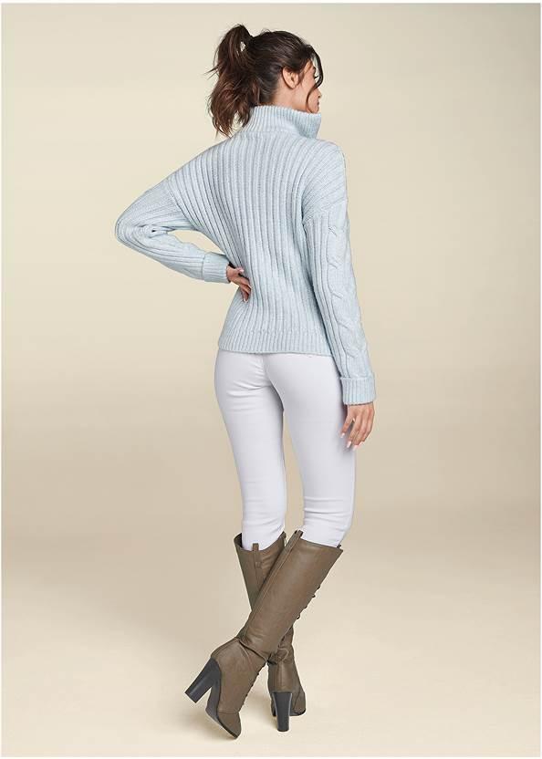 Full back view Half Zip Sweater