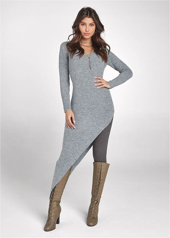 Asymmetrical Maxi Sweater
