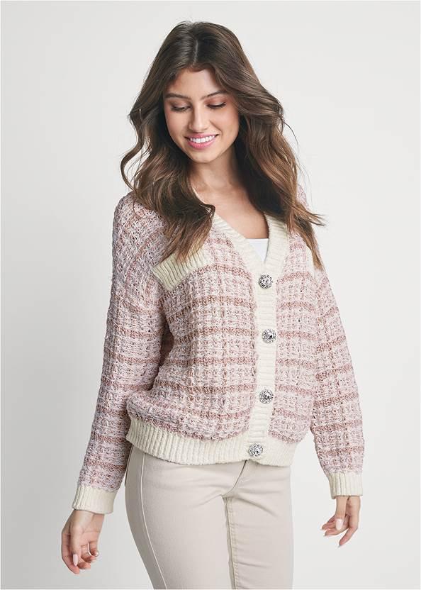Tweed Cardgian With Lurex