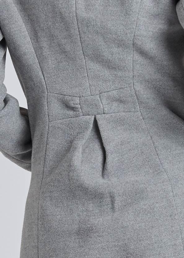Alternate View Faux Fur Trim Coat