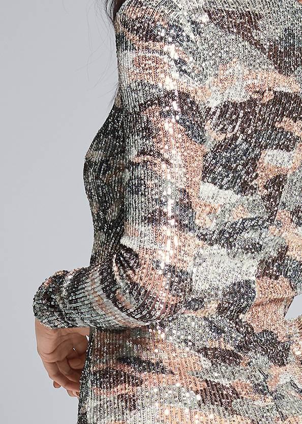 Alternate View Sequin Camo Dress