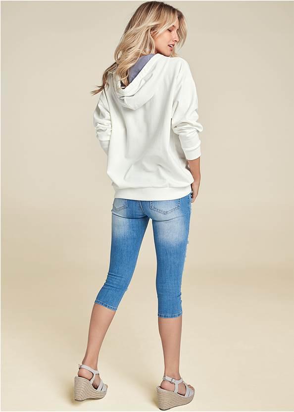 Back View Striped Detail Sweatshirt