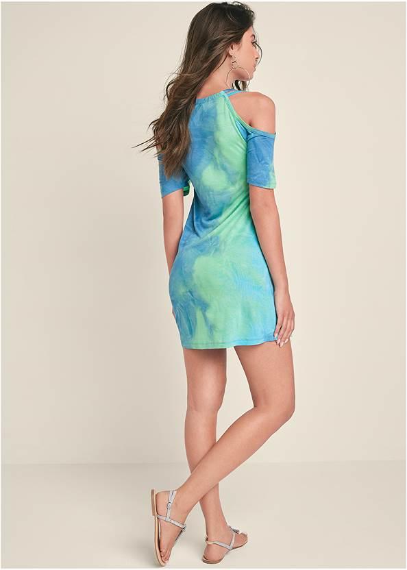 Full back view Cold Shoulder Dress