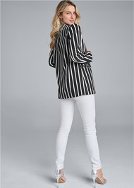 Back View Striped Blazer