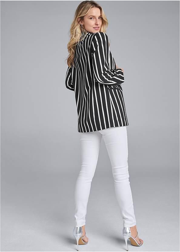Back View Striped Blazer