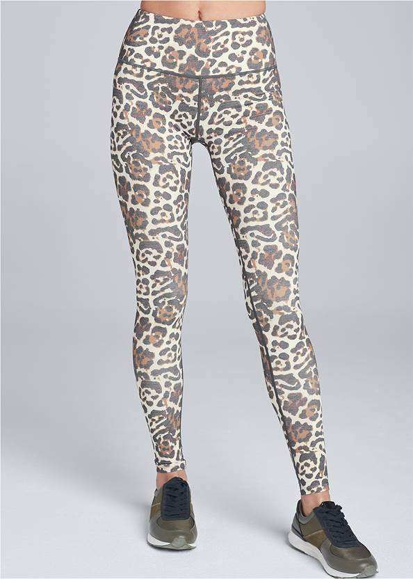 Front View High Waisted Active Leggings