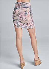 Waist down back view Reversible Skirt