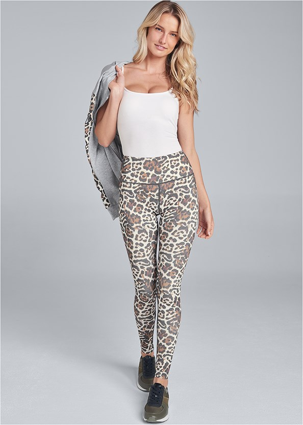 High Waisted Active Legging,Basic Cami Two Pack,Leopard Cut-Out Jacket,Animal Print Sneakers