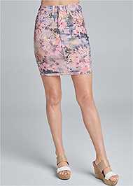 Waist down front view Reversible Skirt