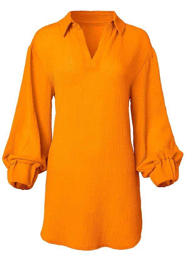 Alternate View Long Sleeve Tunic Cover-Up
