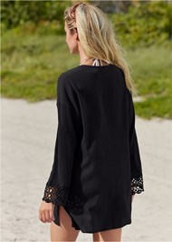 Alternate View Crochet Trimmed Cover-Up Tunic