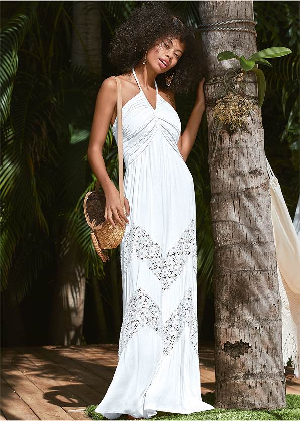 Lace Detail Maxi Cover-Up