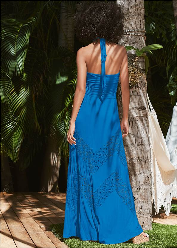Back View Lace Detail Maxi Cover-Up
