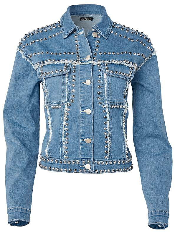 Ghost with background  view Stud Detail Jean Jacket