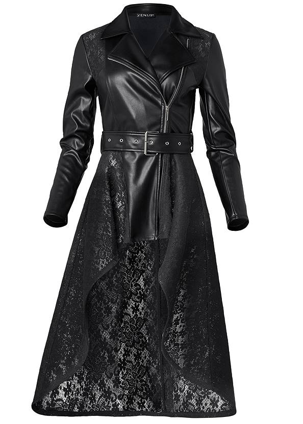 Ghost with background  view Lace Detail Trench Coat